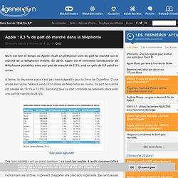 Apple : 8,3 % de part de marché dans la téléphonie