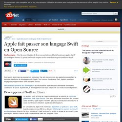 Apple fait passer son langage Swift en Open Source