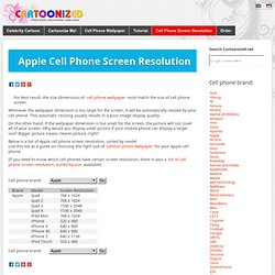 Apple's Cell Phone Screen Resolution by Brand and Model