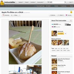 Apple Pie Bites on a Stick
