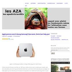 Apple pomme avec le bourg Samsung? Que nenni, Oncle Sam help you!