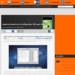 Apple présente un Configurator iOS pour Mac