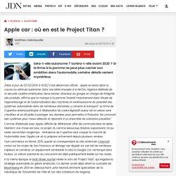 Apple car : où en est le Project Titan?