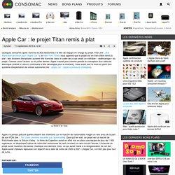Apple Car : le projet Titan remis à plat
