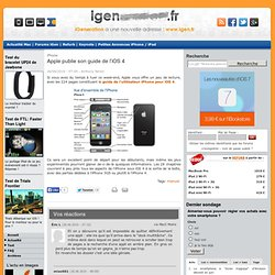 Apple publie son guide de l'iOS 4
