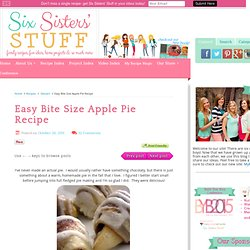 Easy Bite Size Apple Pie Recipe