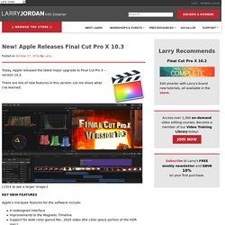 New! Apple Releases Final Cut Pro X 10.3
