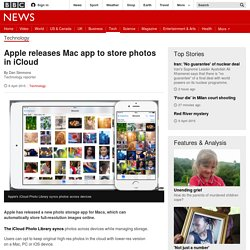 Apple releases Mac app to store photos in iCloud - BBC News