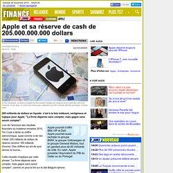 Apple et sa réserve de cash de 205.000.000.000 dollars