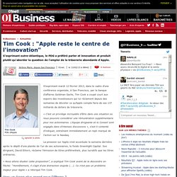 "Tim Cook : ""Apple reste le centre de l'innovation"""