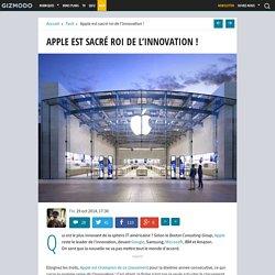 Apple est sacré roi de l'innovation !