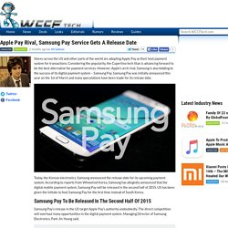 Apple Pay Rival, Samsung Pay Service Gets A Release Date