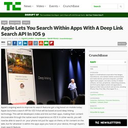 Apple Lets You Search Within Apps With A Deep Link Search API In IOS 9