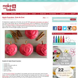 Apple Shaped Cupcakes | Make and Takes - StumbleUpon