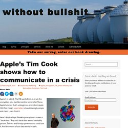 Apple's Tim Cook shows how to communicate in a crisis