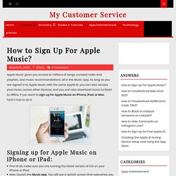 How to Sign Up For Apple Music?