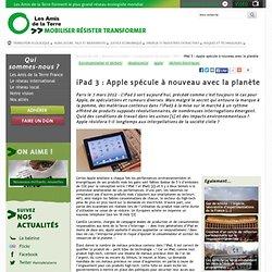 iPad 3 : Apple spécule à nouveau avec la planète