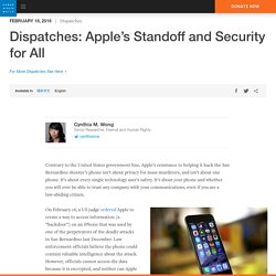 Apple's Standoff and Security for All