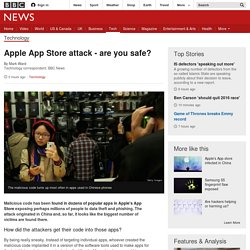 Apple App Store attack - are you safe? - BBC News