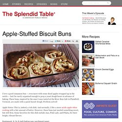 Apple-Stuffed Biscuit Buns