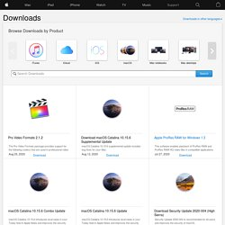 Mac OS X Downloads