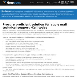 Apple Mail Technical Support 1-855-837-9963 Phone Number