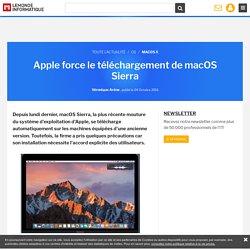 Apple force le téléchargement de macOS Sierra