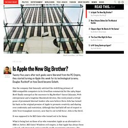 Is Apple the New Big Brother? - Page 1