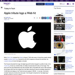 Apple tribute logo a Web hit