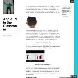 Apple TV in the Classroom « PeorBust