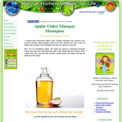 Apple cider vinegar shampoo, yes it is THAT simple