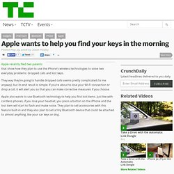 Apple wants to help you find your keys in the morning
