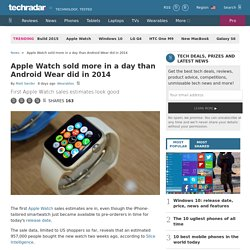 Apple Watch sold more in a day than Android Wear did in 2014