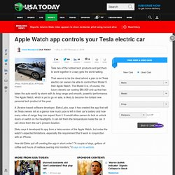 Apple Watch app controls your Tesla electric car