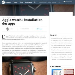 Apple watch : installation des apps
