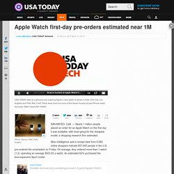 Apple Watch first-day pre-orders estimated near 1M