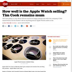 How well is the Apple Watch selling? Tim Cook remains mum