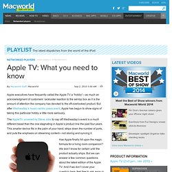 Apple TV: What you need to know