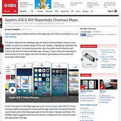Apple's iOS 8 Will Reportedly Overhaul Maps
