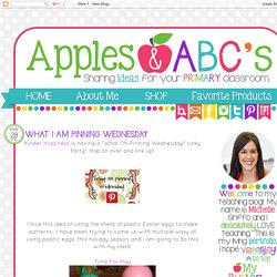 Apples and ABC's: What I Am Pinning Wednesday