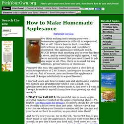 Applesauce: How to make homemade applesauce, easily! (with simple directions, recipe, and with photos for each step)