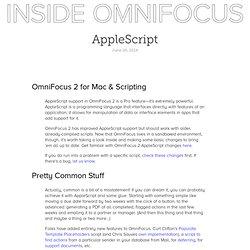AppleScript - Inside OmniFocus