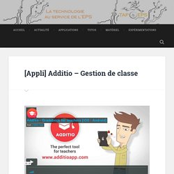 Additio – Gestion de classe