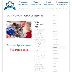 Appliance repair East York
