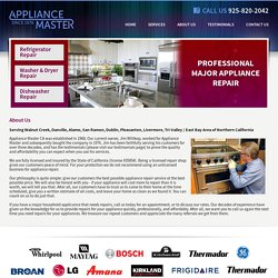 About Appliance Repair - Walnut Creek, Danville, San Ramon, Dublin, Pleasanton, East Bay