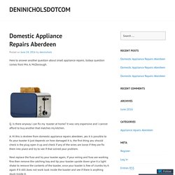 Domestic Appliance Repairs Aberdeen