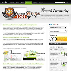 Open Source Firewall Appliance - UTM Linux Security Distribution