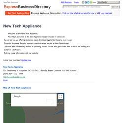 Washing machine repair Burnaby