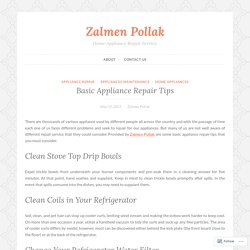 Basic Appliance Repair Tips – Zalmen Pollak