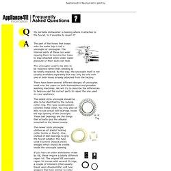 Appliance411 FAQ: Repairing a Portable Dishwasher Unicouple